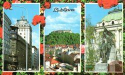 Prešernov trg, ljubljanski grad in nebotičnik