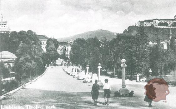Tivoli_ljubljanska_promenada_Jakopičevo_sprehajališče_Ljubljana_1930s