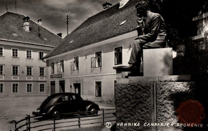 Vrhnika, Cankarjev spomenik