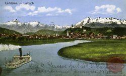 Ljubljana_Grad_Kamniške_planine_Ljubljanica_1908_1918