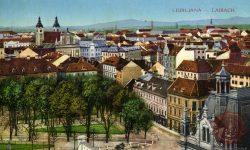 Ljubljana_Kongresni_trg_Univerza_Franciskanska_Cerkev_1916