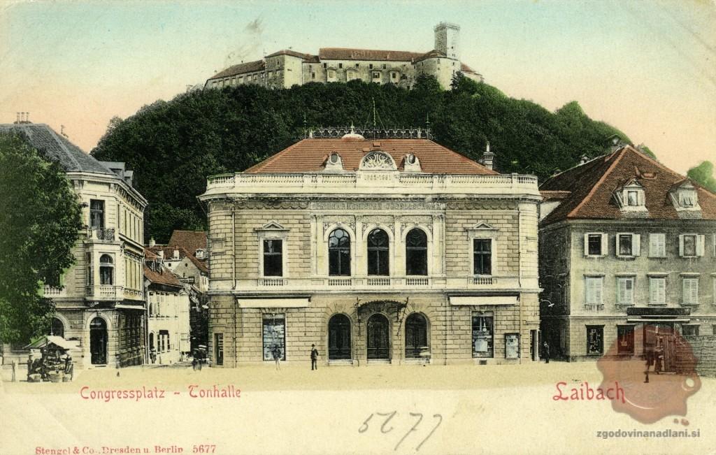 Ljubljana_Slovenska_filharmonija_Grad_1900-1918