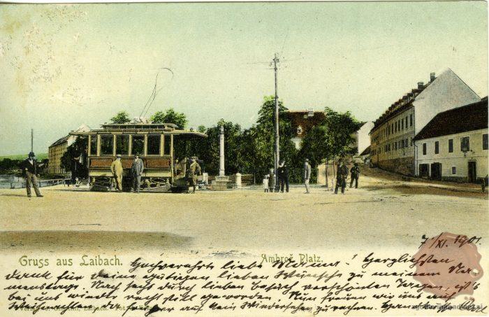Tramvaj na Ambroževem trgu