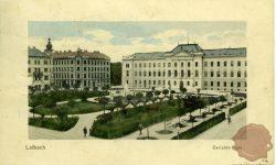 Miklošičev park in sodna palača