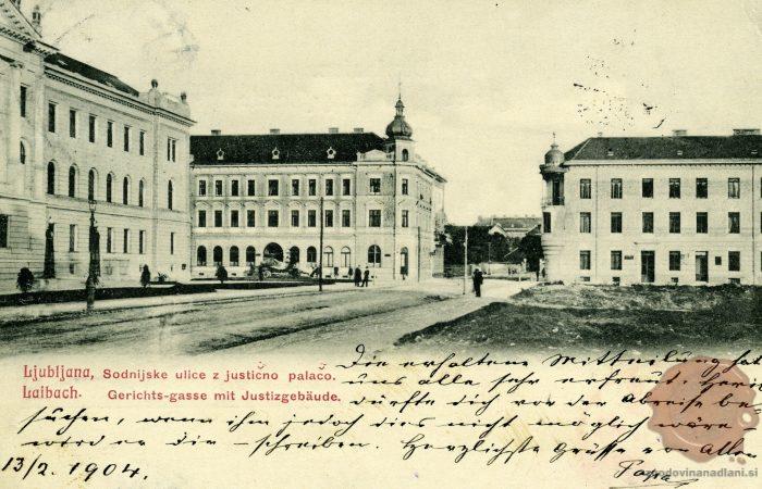 Sodna palača in nekdanja Sodnijska ulica
