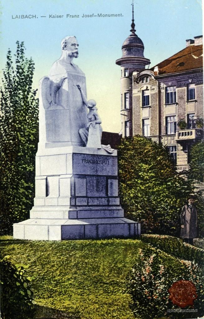 35-1_ljubljana_spomenik_francu_jožefu_sodnijski_trg_miklošičev_park_1916