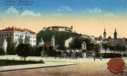 Sodnijski trg in ljubljanski grad