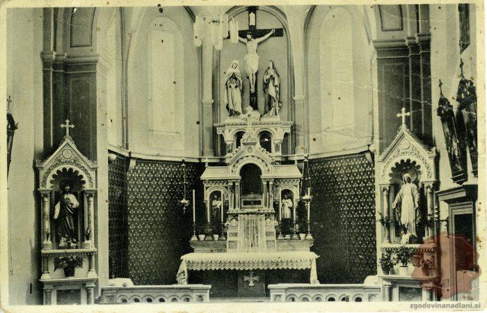 Oltar v cerkvi sv. Križa v Ljubljani