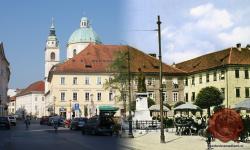 Vodnikov spomenik in tržnica