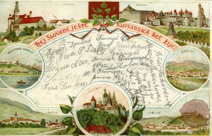 Razglednica slovanskih krajev