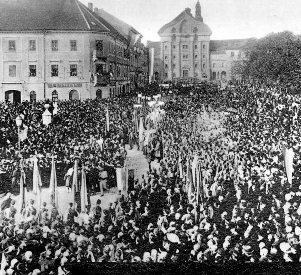manifestacija 29. oktober 1918, Ilustrirani Slovenec, 28. oktober 1928, str. 1