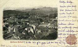 Ljubljana_Frančiškanska_cerkev_Prešernov_trg_1898