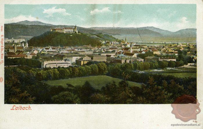 Pogled na Tivoli in Ljubljanski grad