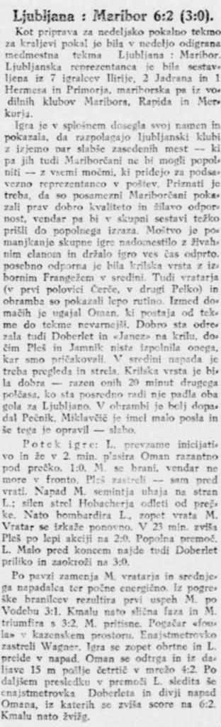 nogometna tekma Ljubljana Maribor_Jutro, 11. avgust 1925, str. 6