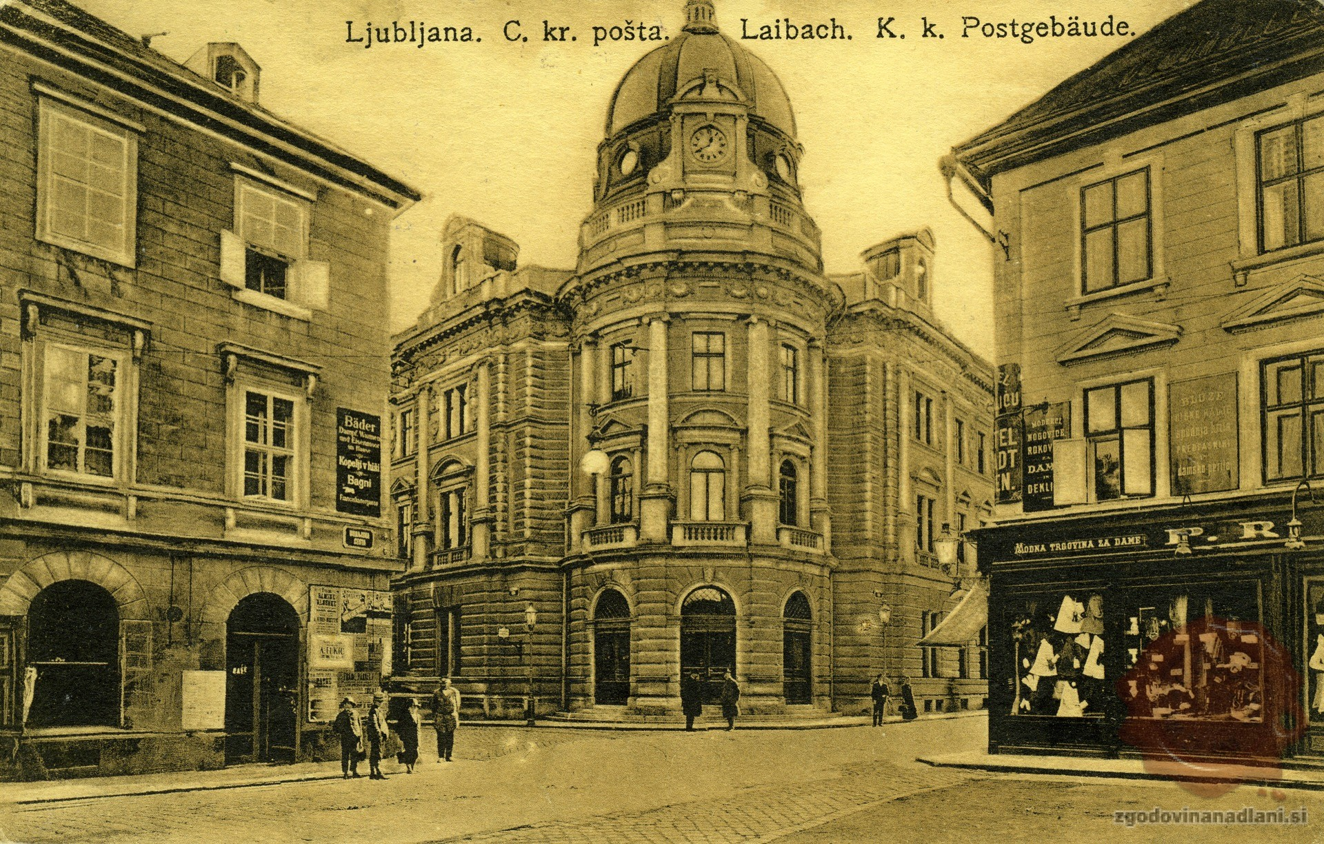 10-1_Ljubljana_Hotel_Slon_Hotel_Stadt_Wien_Pošta_Nama_1900-1914