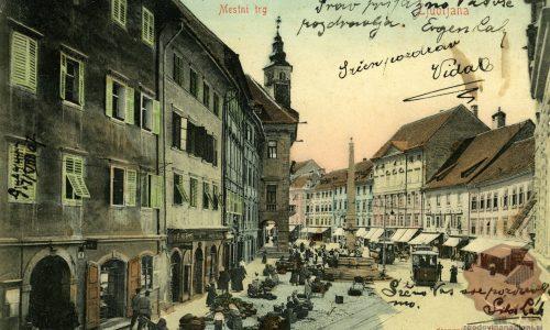 Mestni_trg_Rotovž_Robbov_vodnjak_1907