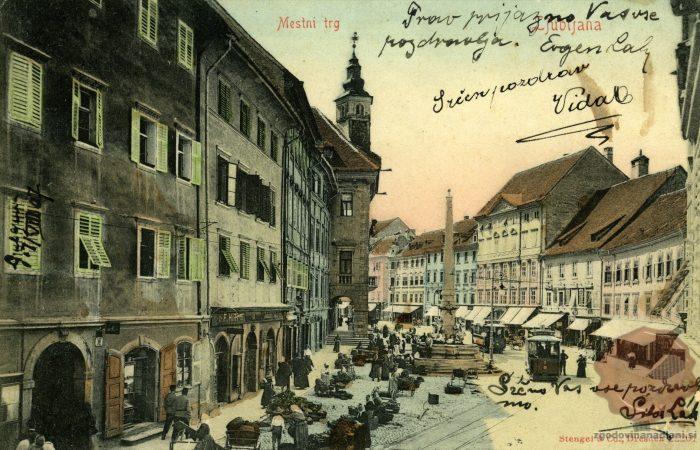 Mestni trg in Robbov vodnjak