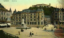 Prešernov trg in Grad
