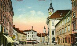 Ljubljana_Mestni_trg_Mestna_hiša_Rotovž_tramvaj_1928