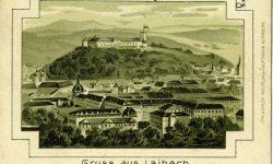 Ljubljanski grad_panorama_kranjski_cesarski_ljubljanski_grb_kranjska_1901