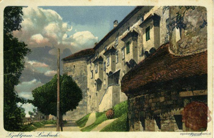 Ljubljanski grad z zahodne strani