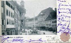 Mestni trg okoli leta 1899