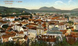 Ljubljana_Marijin_trg_Prešernov_Trg_Frančiškanska_Cerkev_Tromostovje_1923