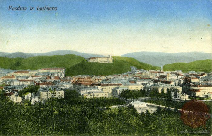 Ljubljanski grad iz Tivolija