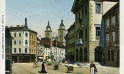 Ljubljana_Mestni_trg_Mestna_hiša_Rotovž_Robbov_vodnjak_1908