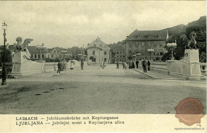 Jubilejni most proti Kopitarjevi