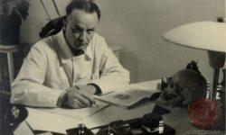 Profesor Lavrič. Zbirka upodobitev znanih Slovencev NUK, foto Mahovič Zvonko, posneto v štiridesetih