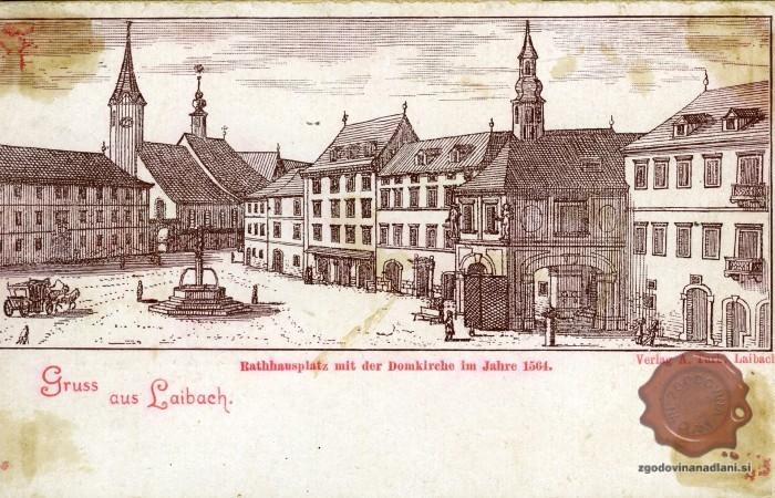 Ljubljana sredi 16. stoletja.