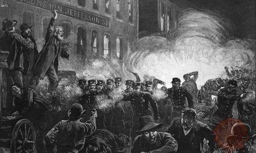 HaymarketRiot-Chicago 1886, wikipedia
