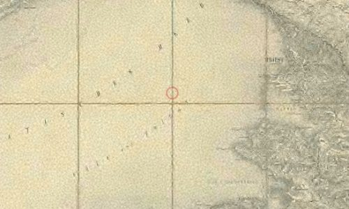 Zemljevid Tržaškega zaliva iz leta 1901.