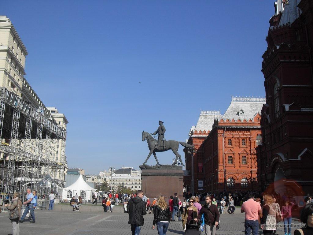 Kip Maršala Žukova v Moskvi. Foto Danijel Osmanagić.