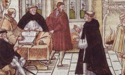 Luther pri augsburškem kardinalu Cajetanu, FOTO: Wikipedia