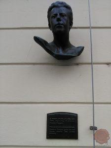 Doprsni kip Mahlerja na ljubljanskem mestnem trgu. Foto Danijel Osmanagić.