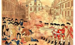 Ilustracija bostonskega pokola (delo Paula Revera), FOTO Wikipeida