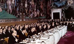 "Podpis ""Rimske pogodbe"" (FOTO: Wikipedia)"