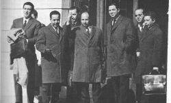 Delegacija alžirskega »Narodnega osvobodilnega gibanja« v Evianu (FOTO Wikipedia)