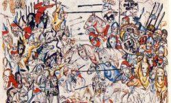 Ilustracija bitke na Legniškem polju iz sredine 14. stoletja, FOTO Wikipedia