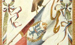 Sokolska ali orlovska razglednica. Vir: ZŠRS Planica, Muzej športa