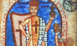 Friderik I. Barbarossa, Ilistracija iz konca 12. stoletja (FOTO Wikipedia)