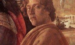 Boticelli je upodobil samega sebe na v svojem znamenitem delu Kronanje treh krajev, FOTO Wikipedia
