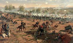 Ilustracija bitke pri Gettysburgu (FOTO: Wikipedia)