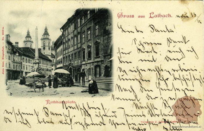Mestni trg z Robbovim vodnjakom