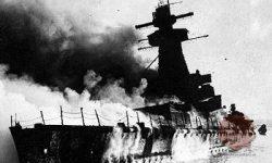 Admiral Graf von Spee v plamenih, FOTO Wikipedia