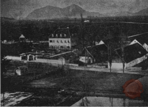 Grad Jama okoli leta 1870-1890. Vir: Kronika, let. 24, št. 1, 1976, str. 52.