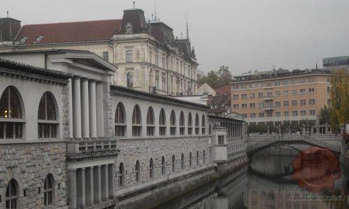 Plečnikova Tržnica in Tromostovje v Ljubljani, FOTO Danijel Osmanagić