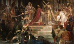Kronanje Karla Velikega – delo nemškega slikarja Friedricha Kaulbacha (1861), FOTO Wikipedia
